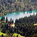 Der smaragdgrüne Crestasee.