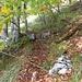 Der Einstieg zum Haslihorn, neu mit Steinhaufen markiert.