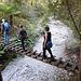 Start in die Schlucht Biela dolina über und durch ein ausgetrocknetes Bachbett.