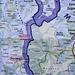 Karte der Lage vom Maja e Korabit / Голем Кораб (Golem Korab; 2764m) auf der Grenze Albanien / Mazedonien. Etwas nördlich des Gipfels ist das Dreiländereck zum Kosovo.<br /><br />Rot eingekreist sind die besuchten Orte Peshkopi, und Radomirë in Albanien.