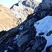Im Abstieg vom Gipfel