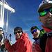 Unsere Schneehupofamannschaft - Kay, Luggi, meiner Einer und Helmut am Top of Tirol