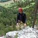 Am Ausstiegsstand vom Kletterbrüderpfad