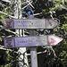 Indicazioni per la Cresta Senigalia dietro al Rifugio Porta