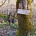 Das einzige Schild auf der ganzen Strecke liegt kurz oberhalb von Sabbione.