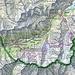 Die ganze Route ca mit 31 km und 3100 HM auf