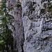 Im Wald unter den Felsen gehts hoch bis zur Leiter