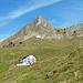 Beim Abstieg, Blick zurück auf die Drusberghütte