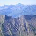 Der Höhepunkt des Flugs: Blick auf Höch Hund und Chläbdächer, meine Lieblings-Gipfel
