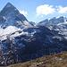 Panorama Fuorcla Crap Alv zu den Gipfeln oberhalb des Val Bever