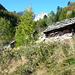 Corte nuovo der Alpe Solögna - Blick auf den verschneiten Pizzo Solögna 2696m