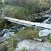 Corte Nuovo der Alpe Solögna - Die Brücke über den Ri di Crozöö, 1570m, wurde geflickt. Mille grazie!