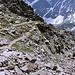 Im Abstieg vom Cheget - Blick auf den Wegverlauf, noch unweit des Gipfels.