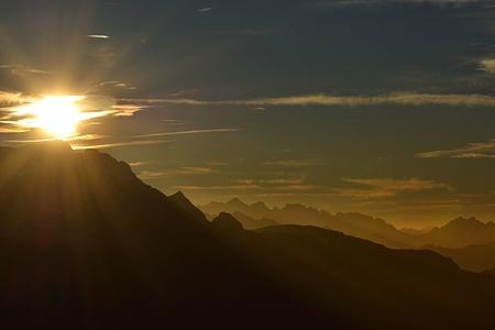 Kurz vor Sonnenuntergang am Vreneli.