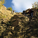 Klettersteig von der 2. zur 3. von 4 Stufen des Steinbruchs