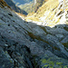 Tiefblick ins Val Verzasca, im Teil ohne Fixseile