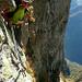 Letzte ausgesetzte! Querung zum P. 2105, tief unten Pradond im Val Verzasca