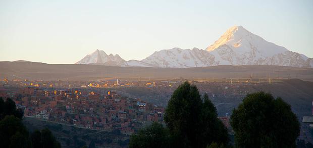 El Alto mit Blick auf den Huayna Potosi