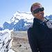 Auf dem Gipfel. Hinter mir der Huayna Potosi