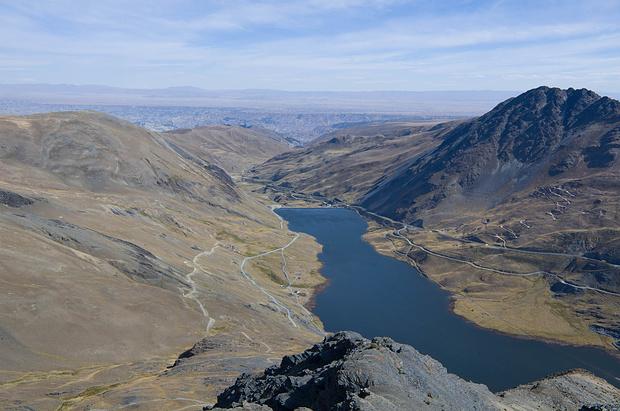 Blick vom Cerro Kinkillosa Richtung La Paz