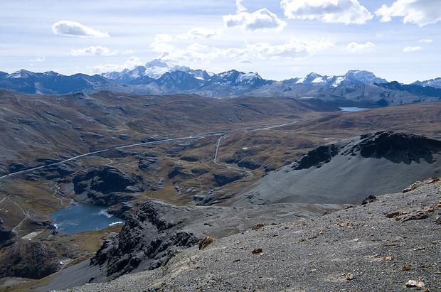 Blick zurück zur Cumbre mit Huayna Potosi
