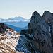 Zwei Berggänger auf dem Vorgipfel des Gätterifirst. Ein Projekt für Fortgeschrittene...