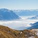 Blick in Richtung Rheintal und Bernina auf dem Weg zum Chreialpfirst