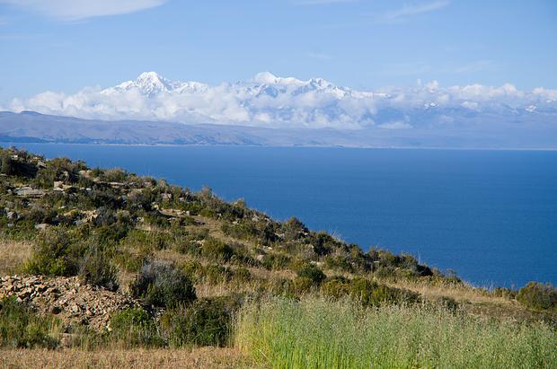 Blick zur Cordillera Real