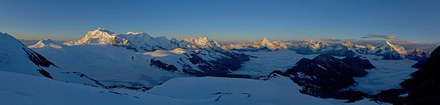 Panorama auf 3800m