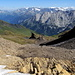 Sur le Blau Gletscherli; descente vers Wischbääch