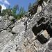 Im Klettersteig Lehner Wasserfall