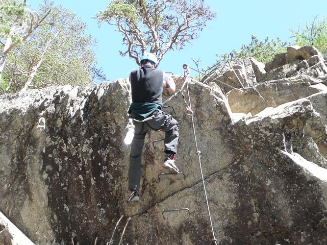 Klettersteig Lehner Wasserfall : Im klettersteig lehner wasserfall Überhang kann einfach [hikr.org]