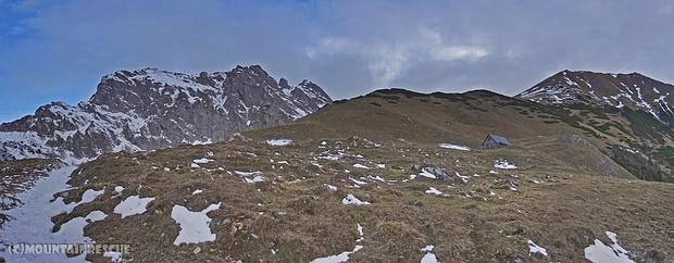Selbst auf ca.1200m Seehöhe, relativ wenig Schnee...