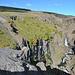 Blick auf die Wasserfallkaskade Hengifoss