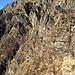 Al centro della foto, a stento distinguibili, le macerie di Funtanasc