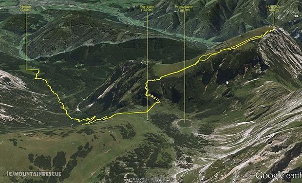Trackübersicht der Tour auf die Hohe Zölz