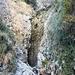 La gola scavata dalla prima cascata.