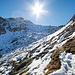 Kurz nach dem P.2627. Der Sonne und dem Badus-Gipfel entgegen!