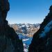 Blick aus der kleinen Scharte vor dem Badus-Gipfel nach Osten