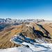 Blick vom Badus nach Norden, über den Grat zum Rossbodenstock und Pazolastock hinweg