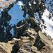 Kurze schmale Stelle beim Abstieg vom Badus nach Süden
