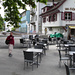 Start hinter dem Bahnhof Baden