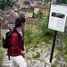 Auf dem Weg hoch zum Schloss Schartenfels.