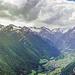 Blick ins Virgental. Links im Bild der Bergerkogel.