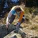 Tanja auf den Gipfelfelsen