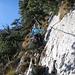 Schöne Kraxelei über die Kalkplatten steil hinab Richtung Zilistock