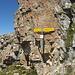 Signpost below Spitzmeilen