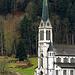 Der neue Kirchturm von Lungern.