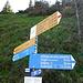 Signpost at Bockmattlipass.