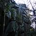 Die Felsgruppe der Kleinen Kösseine ... heute unbesteigbar, weil glitschig nass.